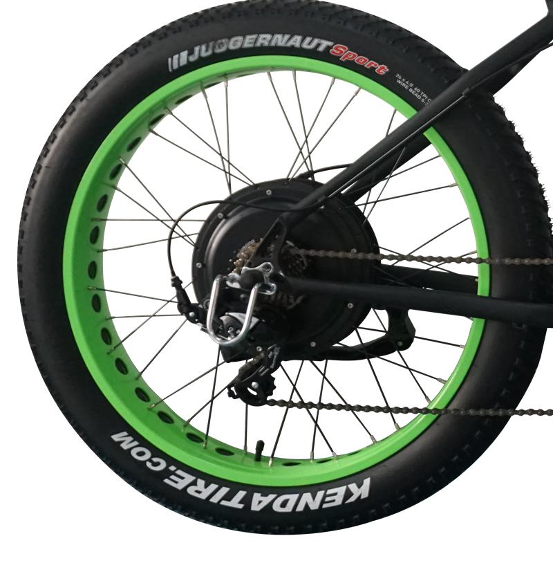 Fat electric bike motor