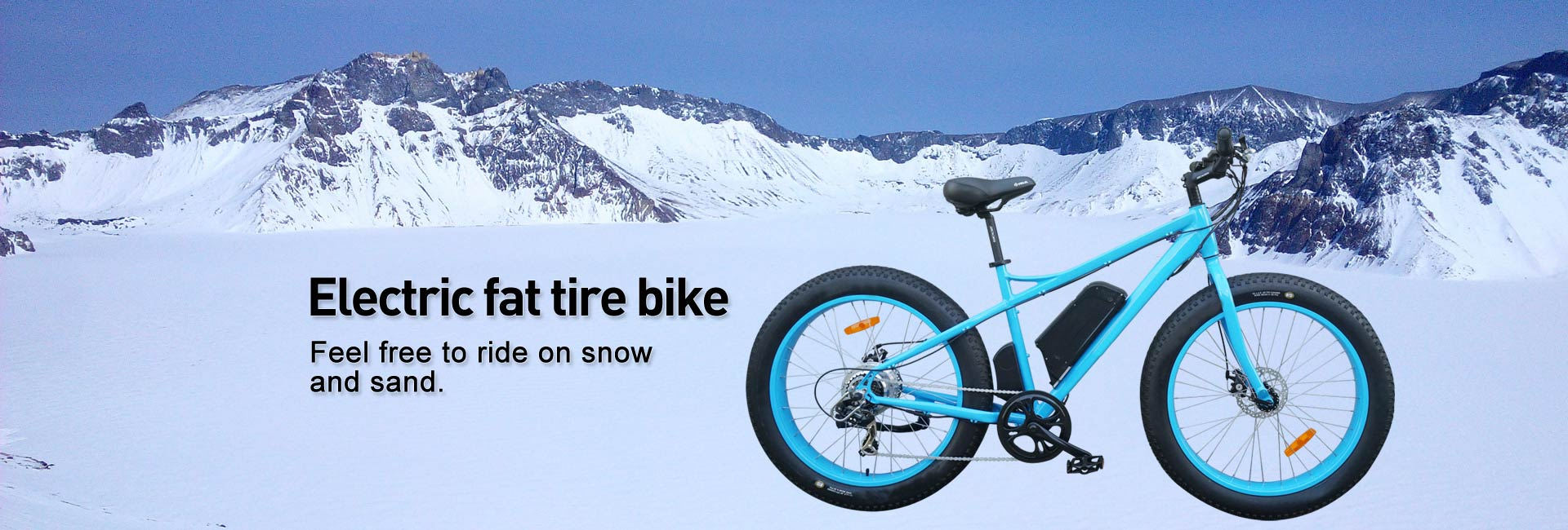 electric flat tire bike